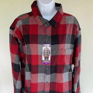 Eddie Bauer Bristol Flannel Plaid Shirt Montauk 2X